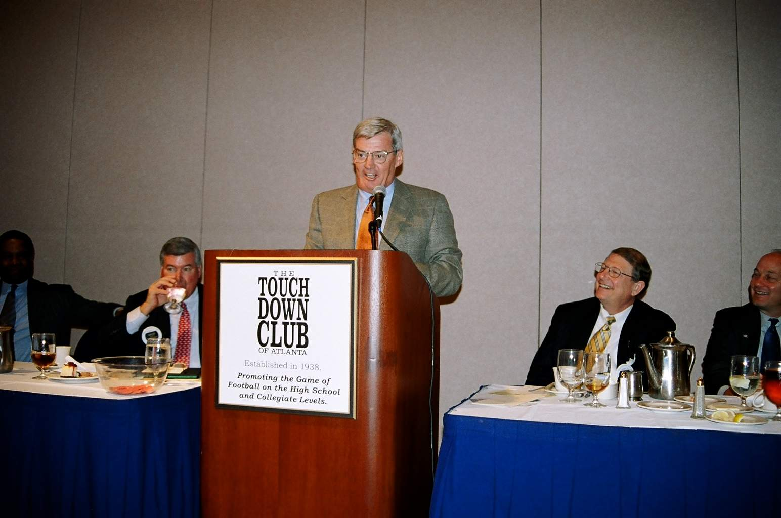 10-18-04 Frank Beamer addressing the TCA