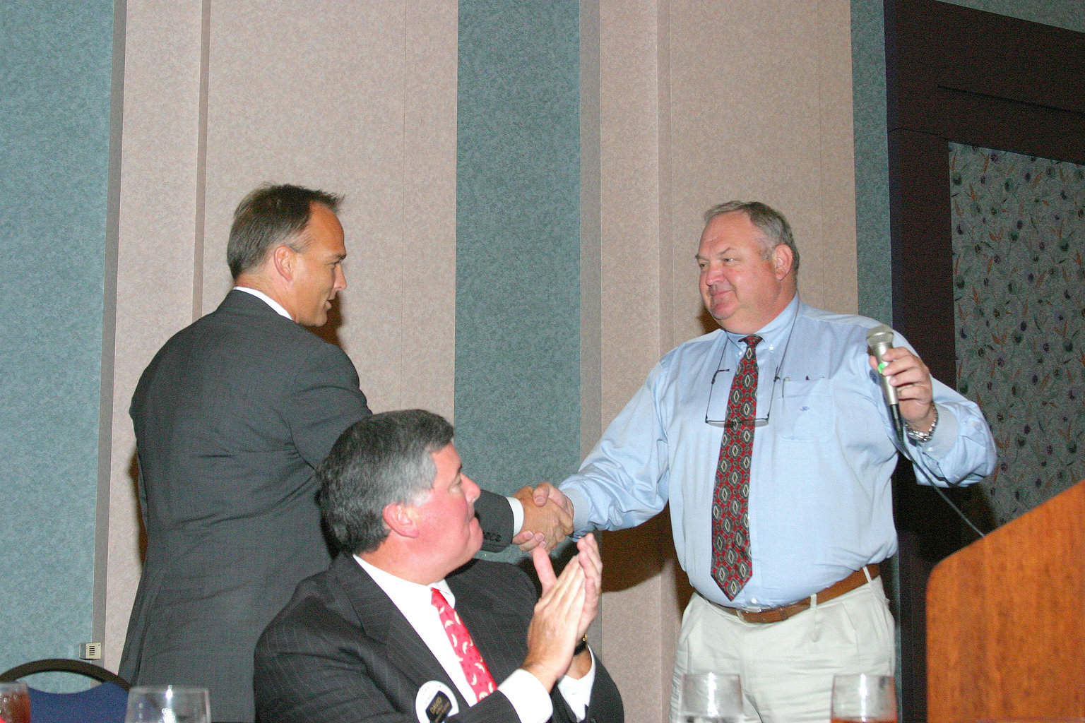 9-20-04 Curtis McGill introducing Mark Richt