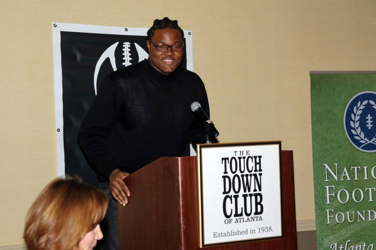 Rashan Gary addressing the TCA